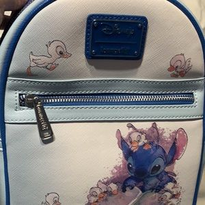 Loungefly stitch ducklings mini backpack